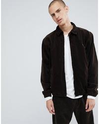 Темно-коричневая вельветовая куртка-рубашка