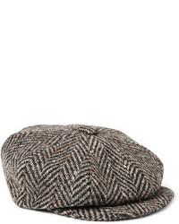 Мужская темно-коричневая кепка от Lock & Co Hatters