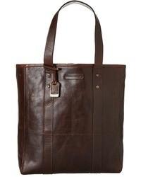 Темно-коричневая кожаная большая сумка