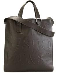Женская темно-коричневая кожаная большая сумка от Assouline
