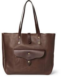 Мужская темно-коричневая кожаная большая сумка от Bill Amberg