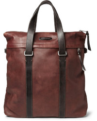 Мужская темно-коричневая кожаная большая сумка от Dolce & Gabbana