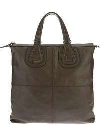 Мужская темно-коричневая кожаная большая сумка от Givenchy