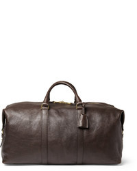Темно-коричневая кожаная дорожная сумка