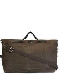 Мужская темно-коричневая кожаная дорожная сумка от Ally Capellino