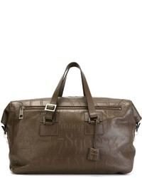 Мужская темно-коричневая кожаная дорожная сумка от Assouline