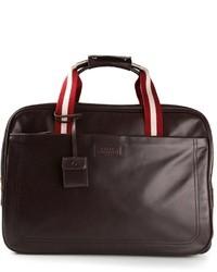 Мужская темно-коричневая кожаная дорожная сумка от Bally