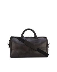 Мужская темно-коричневая кожаная дорожная сумка от Bottega Veneta