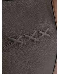 Мужская темно-коричневая кожаная дорожная сумка от Ermenegildo Zegna