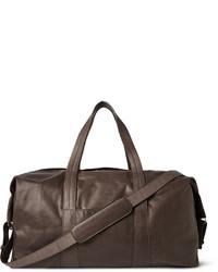 Мужская темно-коричневая кожаная дорожная сумка от Maison Margiela
