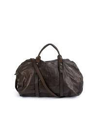 Мужская темно-коричневая кожаная дорожная сумка от Numero 10