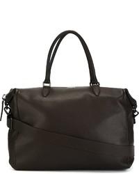 Мужская темно-коричневая кожаная дорожная сумка от Zanellato
