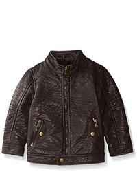 Темно-коричневая кожаная куртка