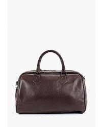 Женская темно-коричневая кожаная спортивная сумка от Antan