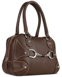 Женская темно-коричневая кожаная сумка-саквояж от Buti