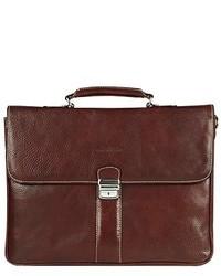 Женская темно-коричневая кожаная сумка-саквояж от Robe Di Firenze