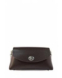 Темно-коричневая кожаная сумка через плечо от BB1
