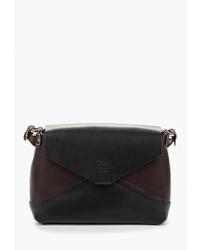 Темно-коричневая кожаная сумка через плечо от Divalli