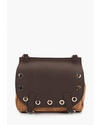 Темно-коричневая кожаная сумка через плечо от Igermann