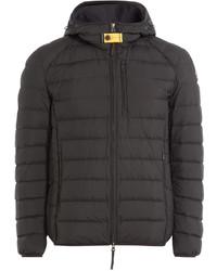 Темно-коричневая куртка-пуховик
