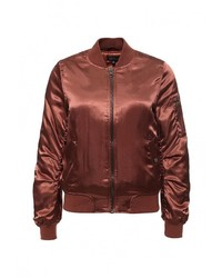 Женская темно-коричневая куртка-пуховик от Topshop
