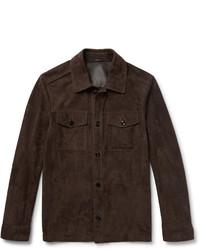 Темно-коричневая куртка-рубашка
