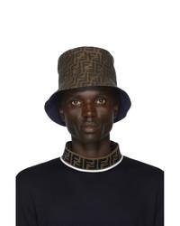 Мужская темно-коричневая панама от Fendi