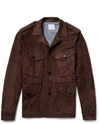 Темно-коричневая полевая куртка