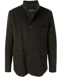 Темно-коричневая полевая куртка от Emporio Armani