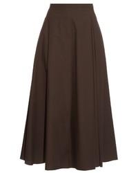 Темно-коричневая пышная юбка