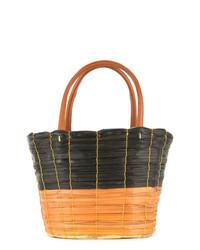 Темно-коричневая соломенная сумка-мешок