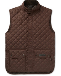 Темно-коричневая стеганая куртка без рукавов