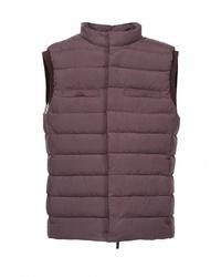 Мужская темно-коричневая стеганая куртка без рукавов от 88 Piuma E Piumaggio