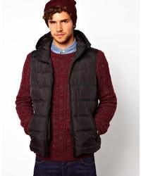 Мужская темно-коричневая стеганая куртка без рукавов от Asos