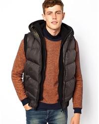 Мужская темно-коричневая стеганая куртка без рукавов от Brave Soul