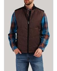 Мужская темно-коричневая стеганая куртка без рукавов от FiNN FLARE