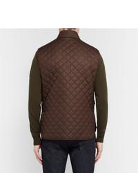 Мужская темно-коричневая стеганая куртка без рукавов от Belstaff