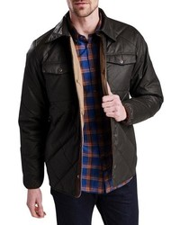 Темно-коричневая стеганая куртка-рубашка