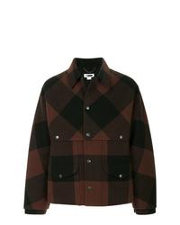 Темно-коричневая шерстяная куртка-рубашка
