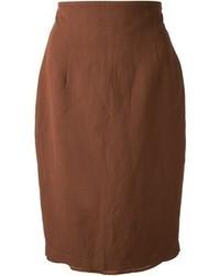 Темно-коричневая юбка-карандаш