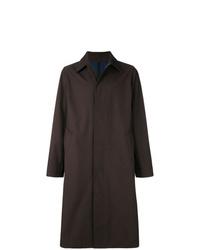 Темно-коричневое длинное пальто от AMI Alexandre Mattiussi