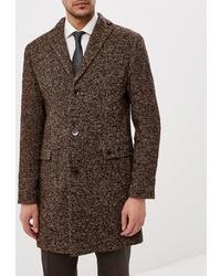 Темно-коричневое длинное пальто от Bazioni