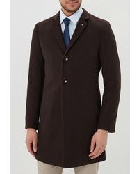 Темно-коричневое длинное пальто от Berkytt