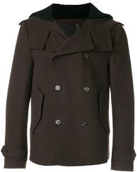 Мужское темно-коричневое длинное пальто от Dolce & Gabbana
