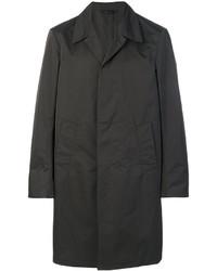 Мужское темно-коричневое длинное пальто от Jil Sander