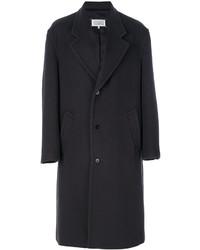 Мужское темно-коричневое длинное пальто от Maison Margiela