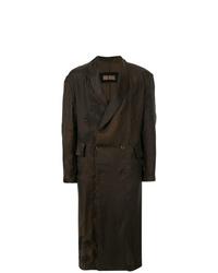 Темно-коричневое длинное пальто от Uma Wang