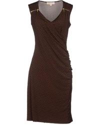 Женское темно-коричневое облегающее платье от MICHAEL Michael Kors