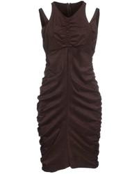 Женское темно-коричневое облегающее платье от Pinko