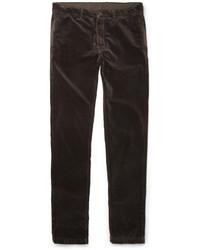Темно-коричневые бархатные джинсы